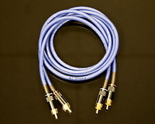 Van Damme Blue Ultra 3 Metre Pair Interconnect Cables RCA To RCA (Phono)