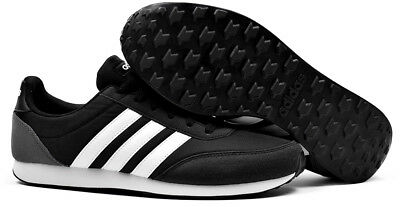 Adidas Neo V Racer 2.0 Mens Trainers Running Gym Sports Training Shoes Black | eBay