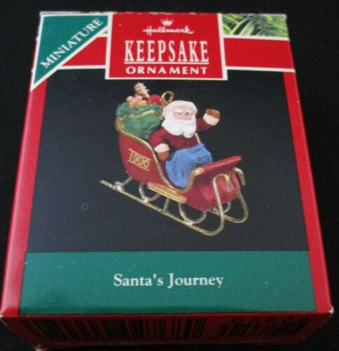 1990 Hallmark Keepsake SANTA/'S JOURNEY Miniature Ornament 100/% PURE MINT!