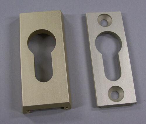 ABUS Aluminium-Schutzrosette für Profilzylinder RS110 10mm stark F2 neusilberNEU