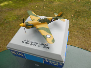 ARMOUR-1-100-AVION-P-40-CURTIS-USAAF-WWII-Aces-ARTICLE-NEUF-EN-BOITE