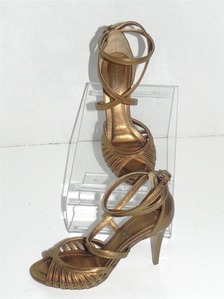 Donna Karan New York Bronze Leather Sandals 7 7 Sandals 76f018