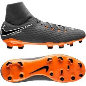 Nike Hypervenom Phelon III FG 2018 DF Nike Skin Soccer Shoes Gray ... 022ca1f9e9696