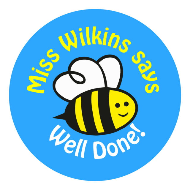 80 personalised teacher reward stickers for pupils well done bee blue gift gifts