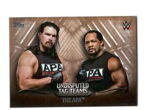 WWE-The-APA-2016-Topps-Undisputed-Tag-Teams-Parallel-Card-SN-60-of-99