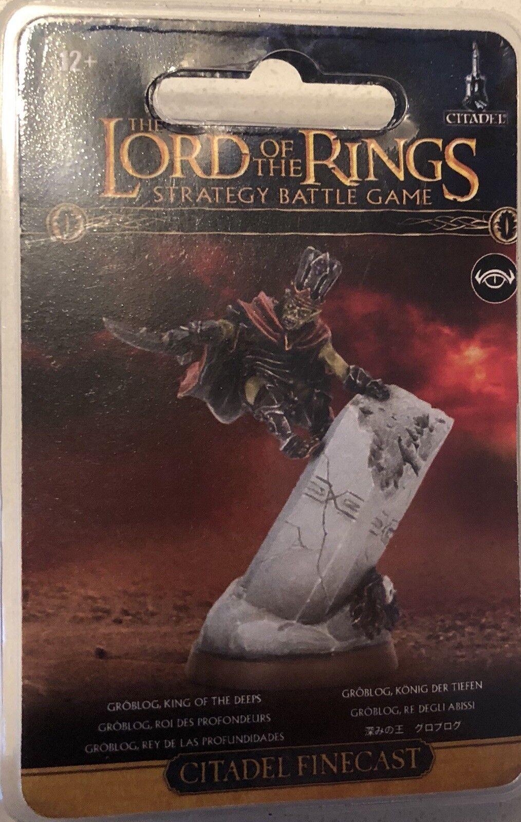 Groblog Goblin King Of The Deeps Unpainted Finecast Games Workshop LOTR