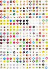 Wholesale 330pcs Cartoon Home Button Sticker For Apple iPhone 5,4/4S iPad mini