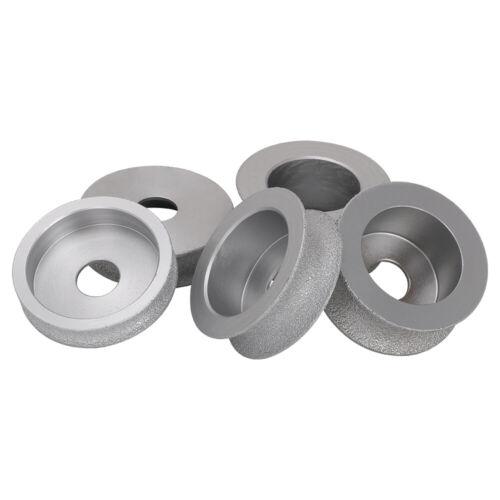 "3/"" 75mm Brazed Diamond Grinding Wheel Stone Profile Abrasive for Angle Grinder"