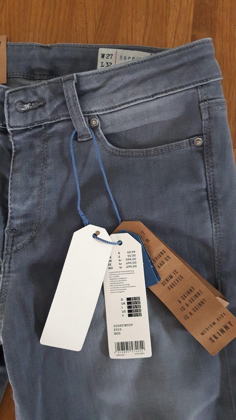 Jeans Esprit Skinny grau Gr.27 32 32 32 NEU 417363