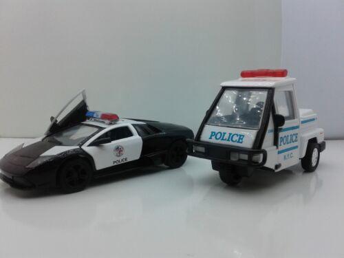 "New 5/"" Kinsmart Lamborghini /& SCOOTER Police Car Diecast Model Toy 1:38 SET OF 2"