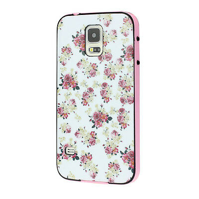 Floral Jacquard Pattern PC+TPU Case Cover For Samsung Galaxy S5 i9600 Nice Gift