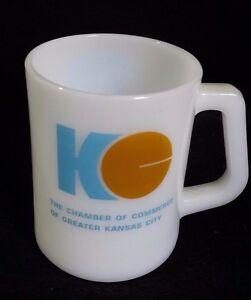 Vintage Federal Mug Milk Glass D Handle 69 Kansas City Missouri 75th Assembly
