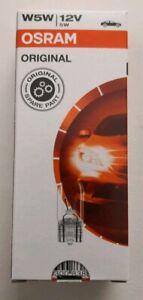 Standlichtbirnen W5W Glassockellampen 10er Pack ORIGINAL OSRAM