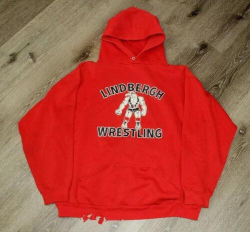 VTG 70s Russell Athletic Lindbergh Wrestling Hood… - image 1