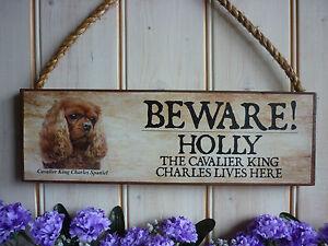 PERSONALISED-DOG-SIGN-CAVALIER-KING-CHARLES-SIGN-WEATHERPROOF-GARDEN-GATE-SIGN