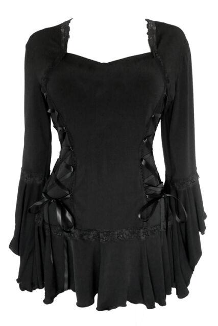 Plus Size Gothic Renaissance Black Bolero Lacing Corset Top 1X 2X 3X 4X 5X