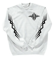 Sweatshirt unisex Shirt S M L Xl Xxl 3Xl 4Xl + Back print Tattoo 10113 white