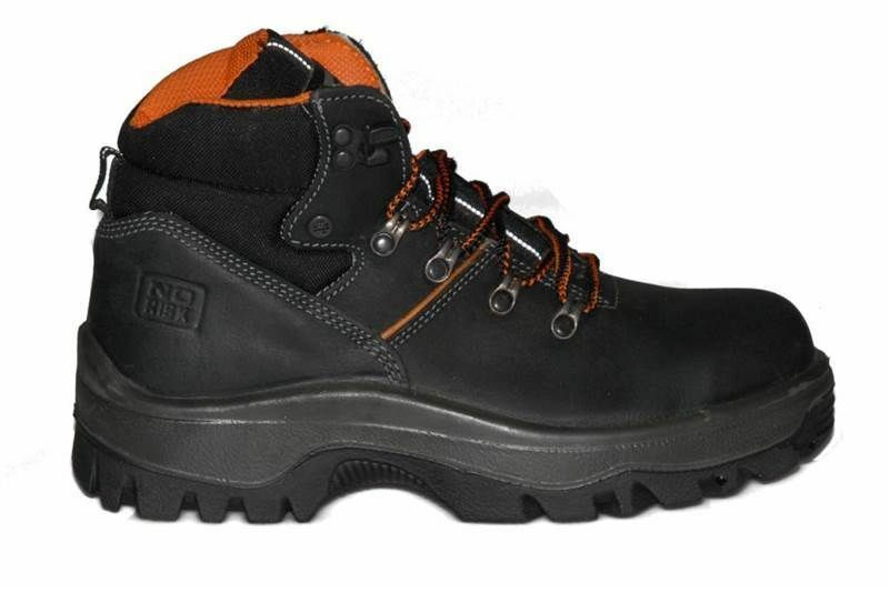 NO RISK STEEL TOE MIDSOLE CAP S3 SAFETY BOOT ALL SIZES 6-12 FREE POSTAGE