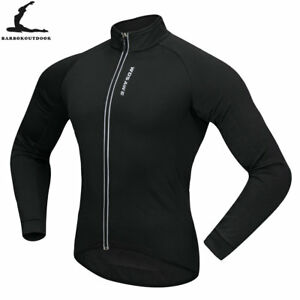 Mens-Thermal-Fleece-Cycling-Jacket-Long-Sleeve-Jersey-Windproof-Winter-Warm-Coat