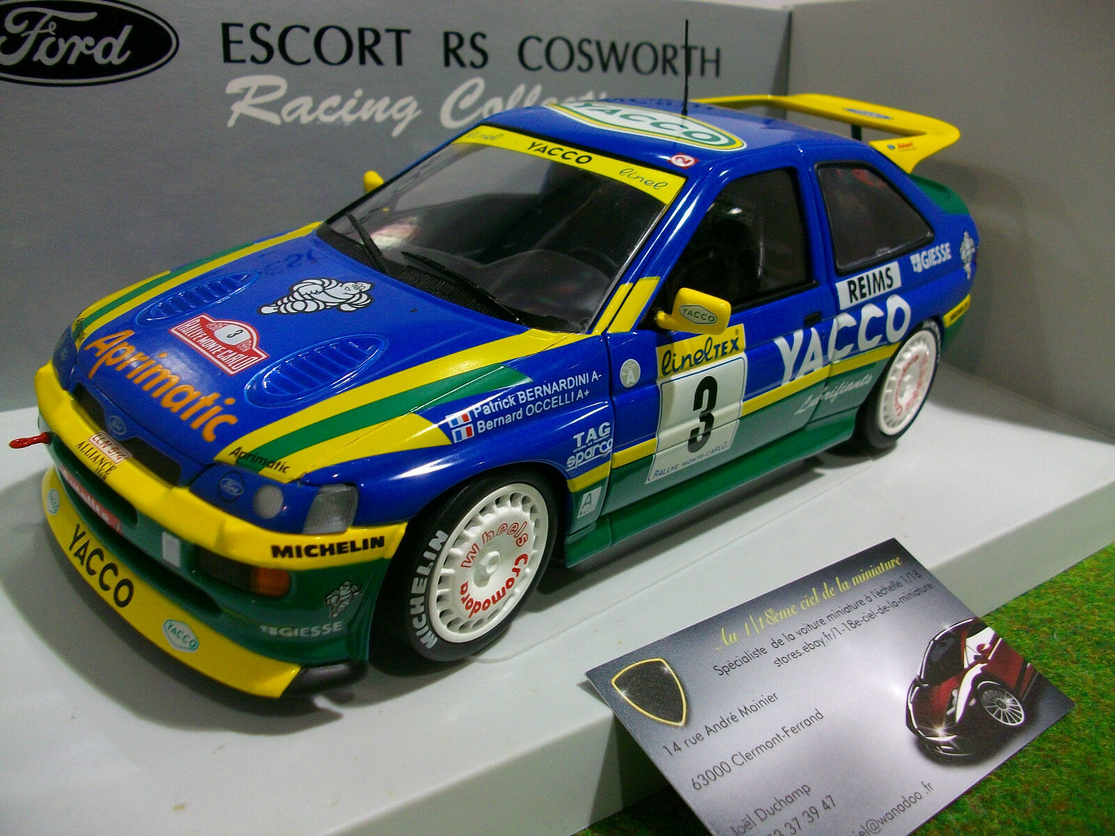 vendita scontata FORD ESCORT RS COSWORTH YACCO MONTE autoLO 1996 1st 1st 1st au 1 18 d UT modellos 180968203  vendite online