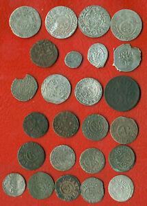 * Lot Of 25 Polen Litauen Elbing Riga 1630 Preußen Golden Horda Livländischer 1