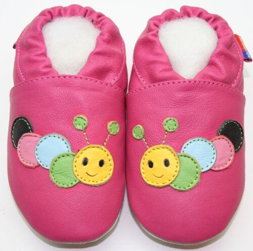 24-36 Monate US 9-10 MINISHOEZOO Hausschuhe Weich Ledersohle Baby Jungen Mädchen