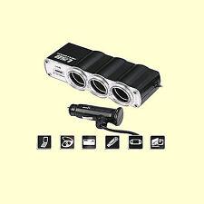 12V KFZ Adapter USB Mehrfachstecker Verteiler Zigarettenanzünder Auto Steckdose