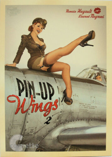 PIN UP Girl World War 2 Vintage A4 Size Wall Poster Print Art Deco