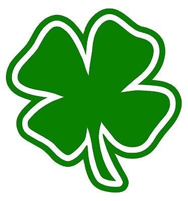 Clover 4 Leaf Irish Plastic Car Auto Decal Sticker