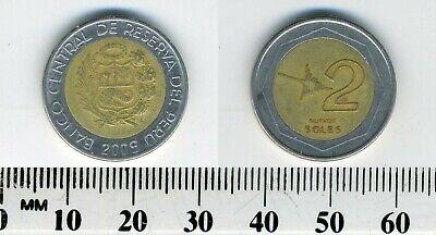 South America Bimetallic Circulated 1994  km313 Peru coin 2 Nuevos Soles