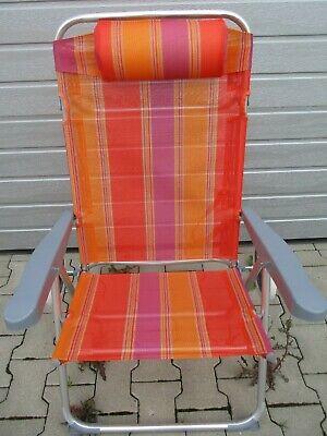 Ein Garten Klapp Sessel In Orange Dinge Bequem Machen FüR Kunden
