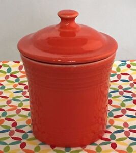 Image is loading Fiestaware-Poppy-Jam-Jar-Fiesta-Orange-Kitchen-Utility- & Fiestaware Poppy Jam Jar Fiesta Orange Kitchen Utility Jar | eBay