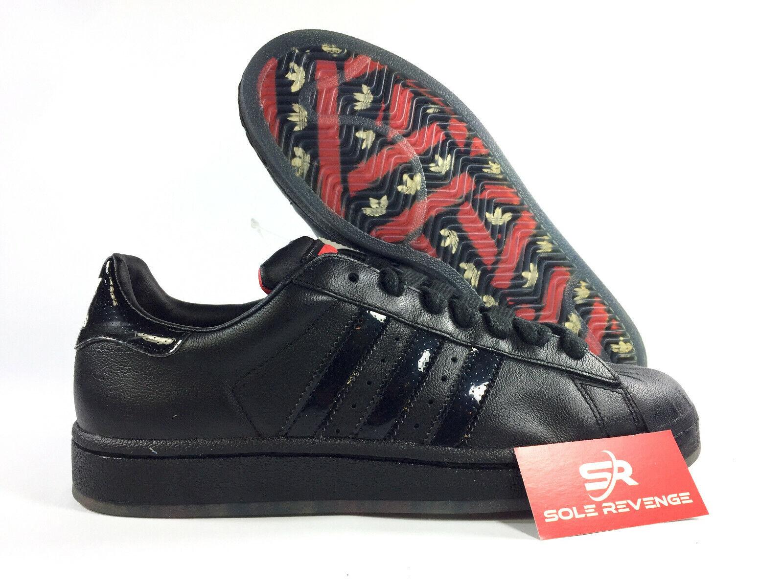 6.5 Mens = 7.5 Womens NEW adidas Originals SUPERSTAR Black Red Shelltoe shoes x1