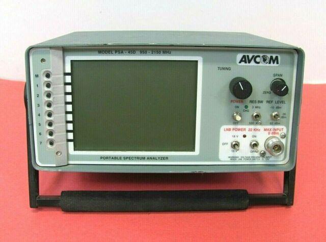 Avcom PSA-45D L-Band Portable Spectrum Analyzer 950-2150 MHz