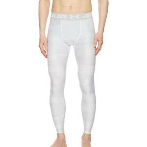 vena Madison fama  Under Armour Ua Heatgear 2.0 Novlty Hombres Blanco Training Mallas  Compresión S | eBay