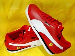 NEW-MEN-039-S-Puma-Scuderia-Ferrari-Roma-Rosso-Red-White-Black-306083-12-size-11