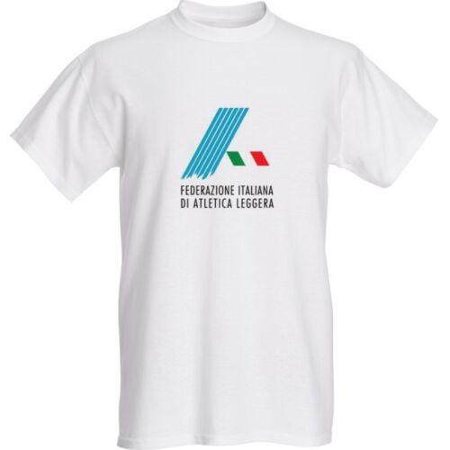 T shirt Cotton Print Hi Qualitiy fidal Italian Federation Athletics PTR