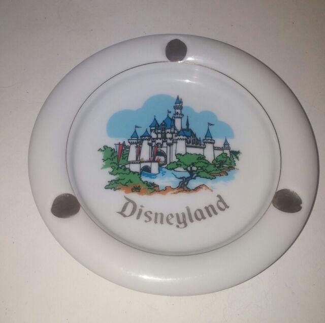 Disneyland California Ceramic Ashtray  Vintage Japan 1960's