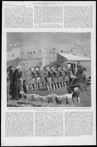1897-Antique-Print-MALTA-Valetta-Eastern-Crisis-Seaforth-Highlanders-78