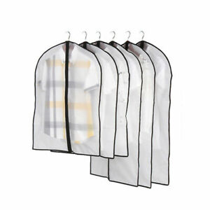 Clothes-Dust-Cover-Protector-Storage-Bag-Garment-Suit-Dress-With-Without-Zipper