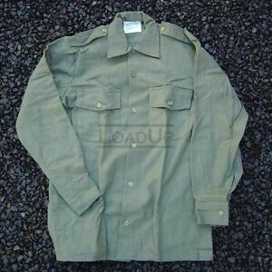 British-Military-M37-WOOL-L-S-SHIRT-Olive-39cm-44-Chest-NEW