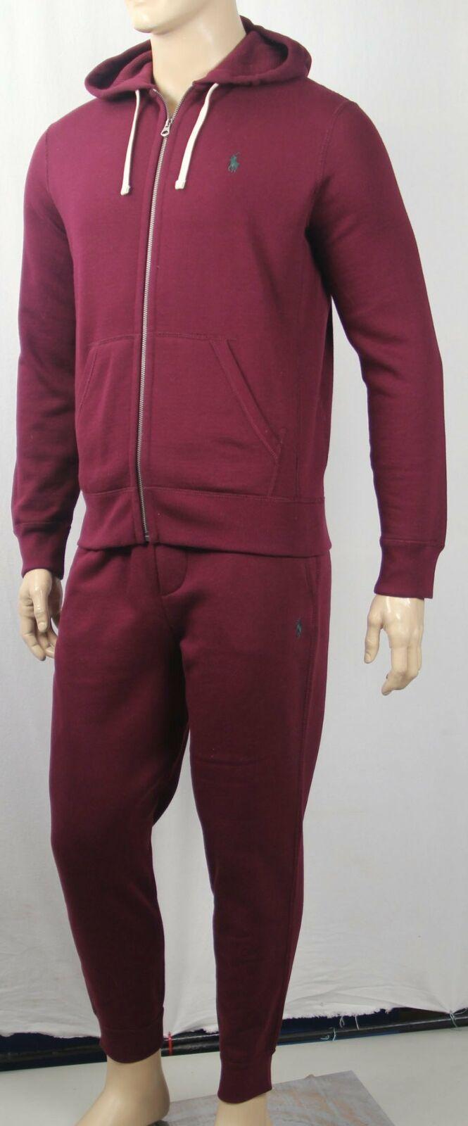Polo Ralph Lauren Burgundy Hoodie   schweißhose schweißsuit Full Zip schweißhemd NWT