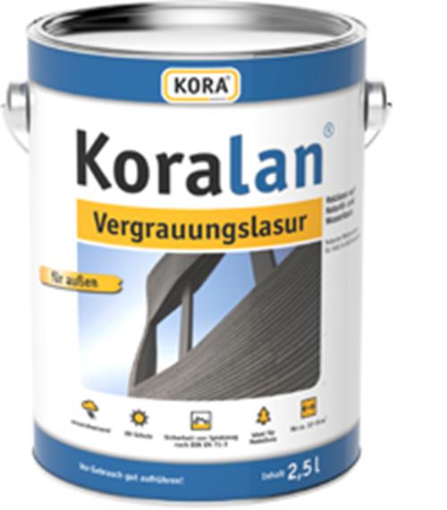 ( /L) Kora Koralan Holzschutz Lasur Vergrauungslasur Holzlasur 2,5L