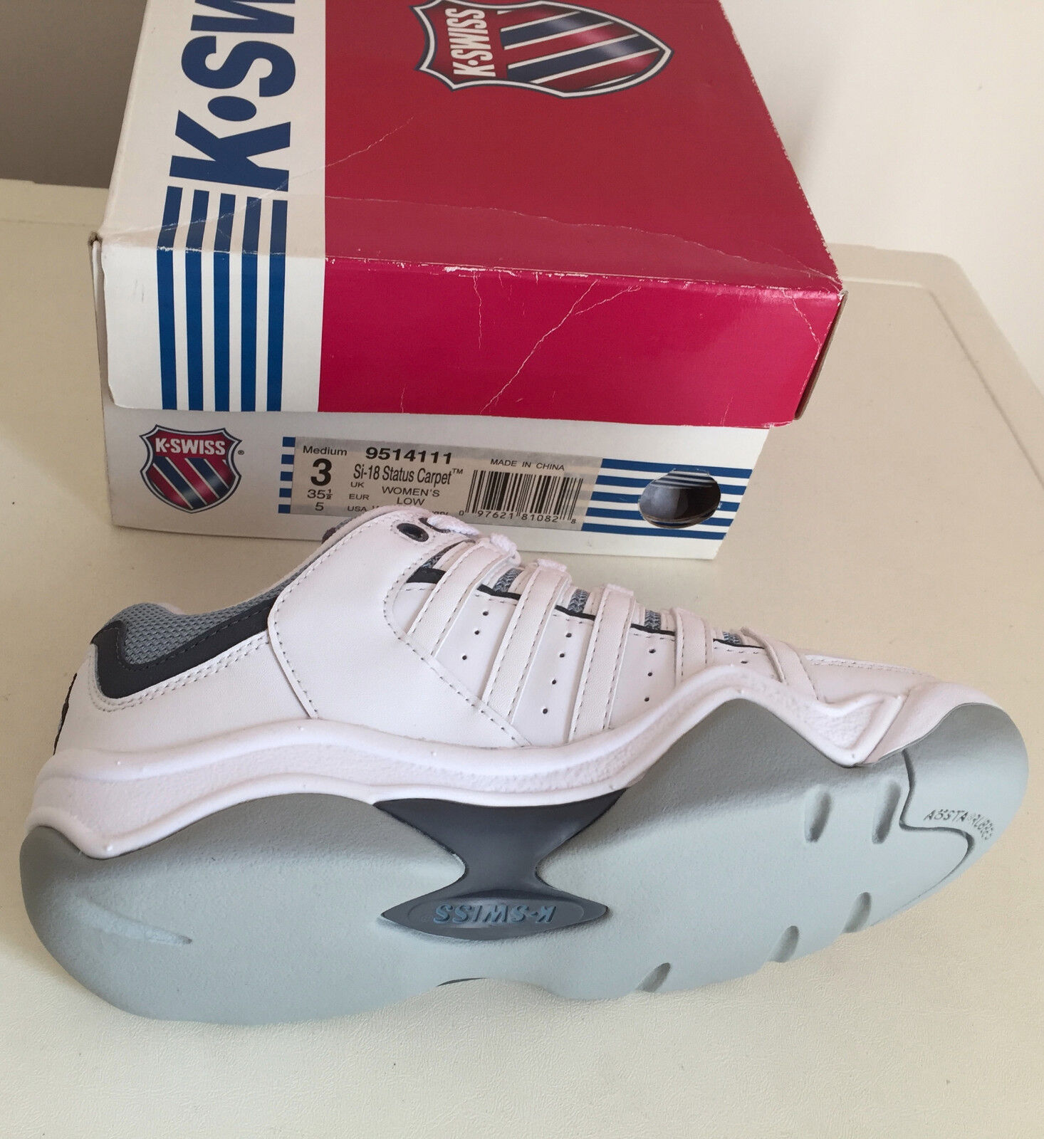 K-Swiss Donna Si-18 Status Carpet Donna UK Trainers Size  3 UK Donna NEW ade00f