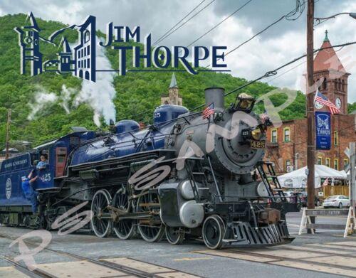 Pennsylvania JIM THORPE Train Station Travel Souvenir Flexible Fridge Magnet