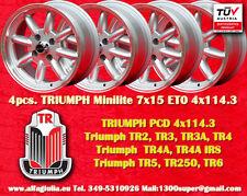4 Cerchi Triumph TR2 TR3 TR4 TR5 TR6 Minilite 7x15 4x114.3 Wheels Felgen