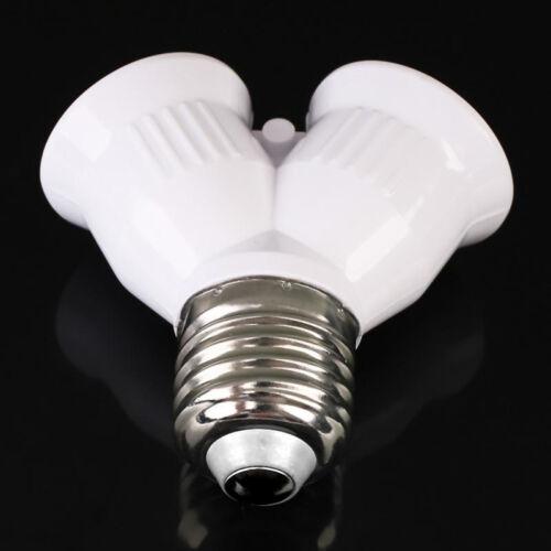 E27 Auf 2E27 2 In 1 Schraube Glühbirne Lampenfassung Fitting Splitter Ada PPJJ
