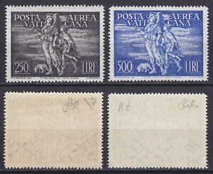 """Vaticano 1948 P. A. """"Tobia"""" n.16-17 serie nuova MNH** gomma integra, centrata"""