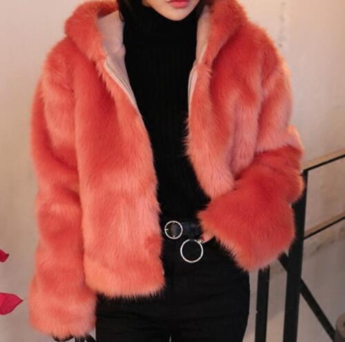 Kvinder Out Faux Winter Hooded Thicken Jacket Parka Korean Fur Button Frakker qp1qrwf
