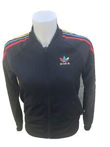 Woman-039-s-Adidas-Originals-Track-Top-Talla-6-Negro-Chaqueta-De-Las-Senoras-Firebird